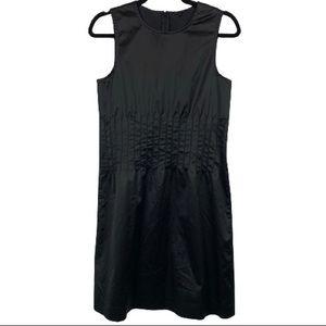 Theory Brynne Pleated Waist Dress in Black